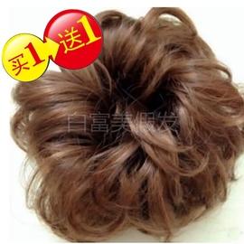 假发圈半丸子头假发包仿真卷发蓬松自然花苞头盘发器假发头饰发髻
