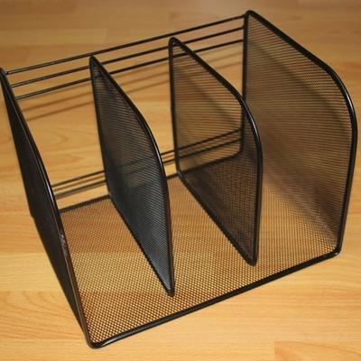 三檔文件架 三列雜誌盒 金屬鐵絲網桌麵文件框 書架檔案架 資料架