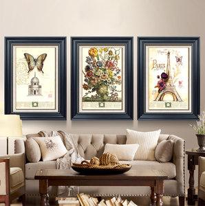 盛迪 美式装饰画客厅沙发背景墙挂画油画欧式餐厅玄关墙壁画