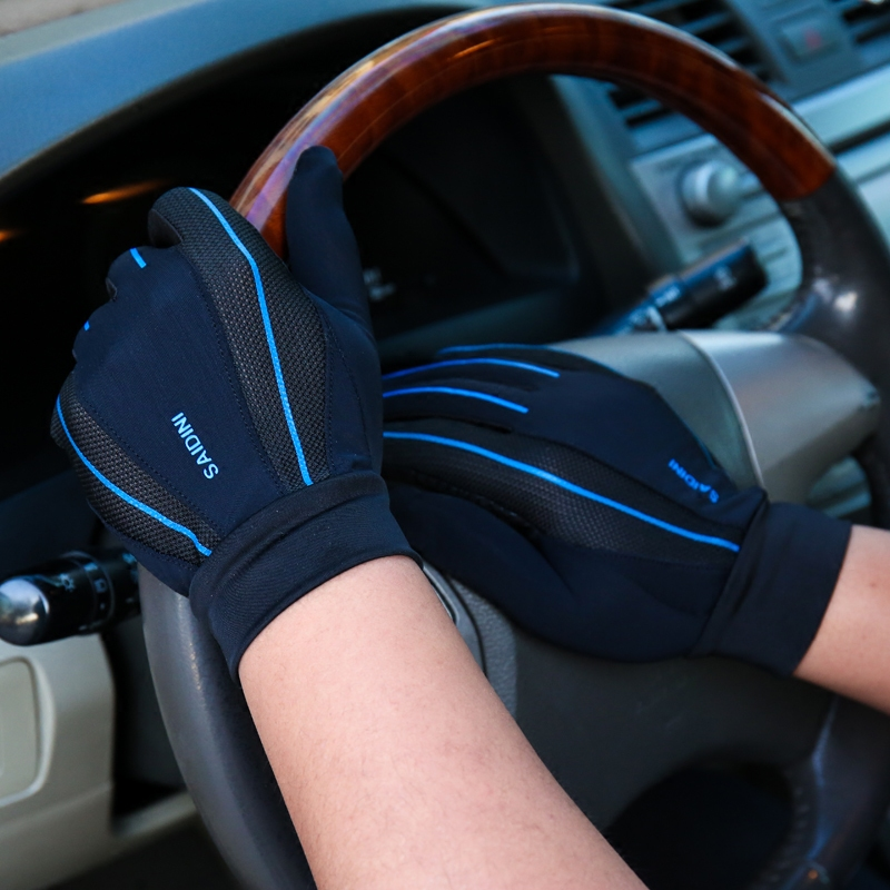 Gloves mens and womens thin driving, ventilating, antiskid riding, mountaineering, touch screen, sunscreen, outdoor fitness gloves