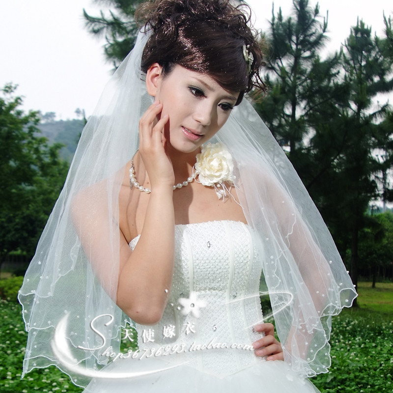 1,5 метра длиной воды немного пряжи кружево для новобрачных вуаль конечные перчатки свадьбы вуаль 209 Аксессуары для новобрачных