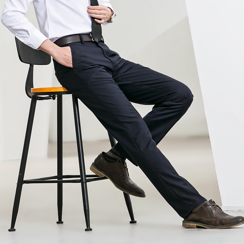 休闲西裤男修身型