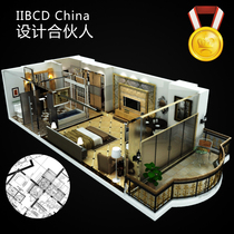 Home furnishings Interior Design 3d renderings make construction drawings physical store door head design rendering effect diagram