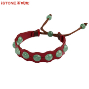Stone tombs red agate leather bracelet women jewelry/personality/original manual