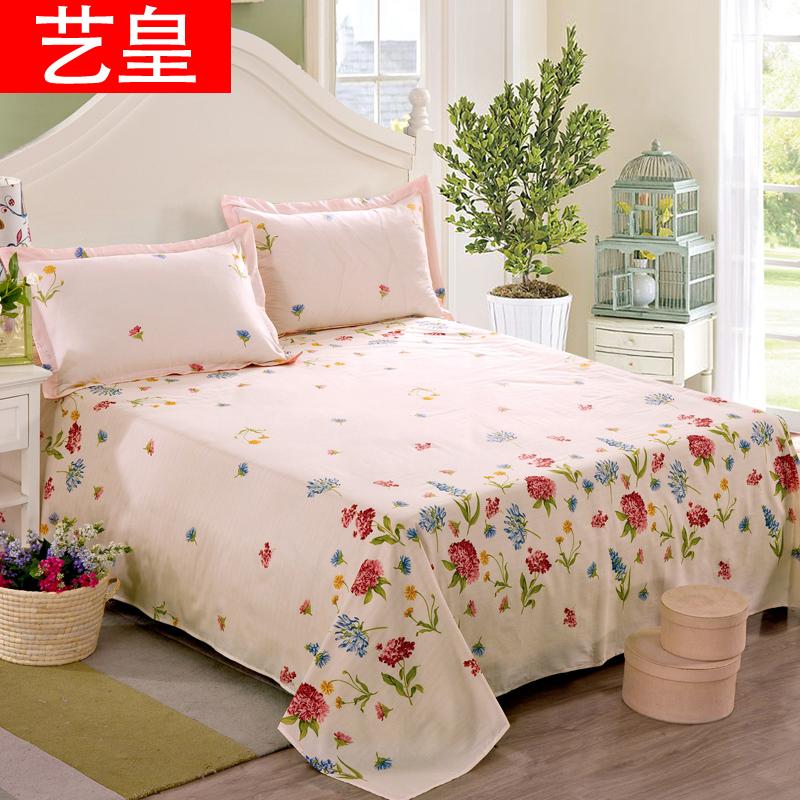 藝皇床單單件純棉斜紋加厚單人雙人被單全棉學生宿舍兒童棉布床罩