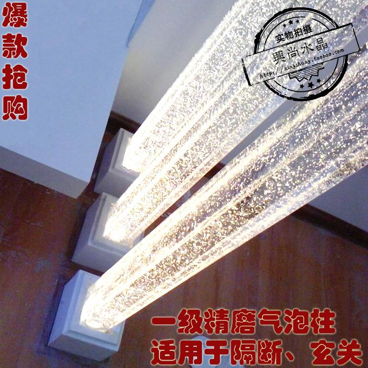 Кристалл колонка стекло колонка декоративный колонка свет столб хорошо мельница прозрачный белый пузырь квадрат колонка гостиная отрезать стена вход