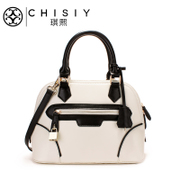 Qi XI-autumn 2015 new fashion mosaic shell bag medium leather handbag women bag handbag Messenger bag
