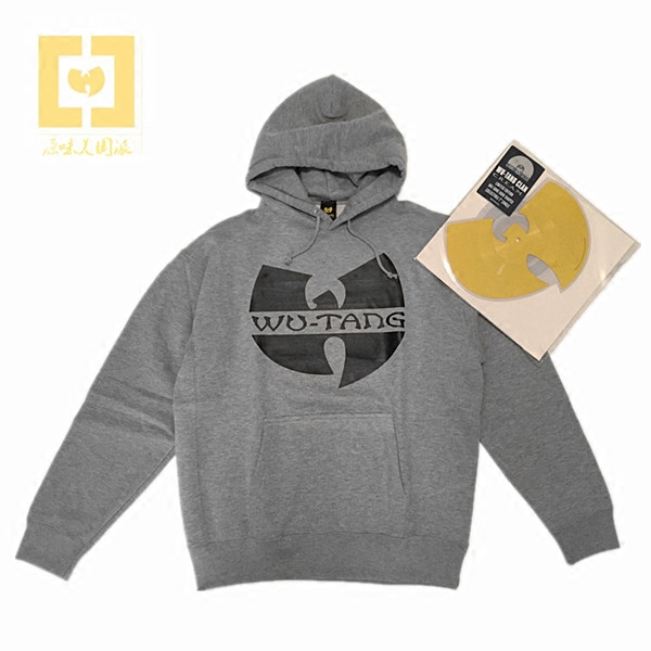 武当派Wu-Tang Clan经典灰色连帽卫衣 HIPHOP|说唱|BBOY|街舞|DJ