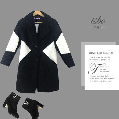 希言 秋冬新款韩版女中长款加厚羊毛呢外套大码宽松修身妮子大衣