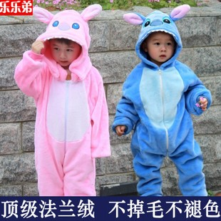Fall and winter children s cartoon animal piece pajamas Stitch baby infant modeling Romper climbing clothes Kids Out
