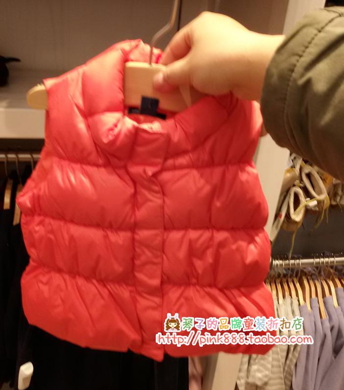 GAP专柜正品 超温暖亮色棉服背心马甲 婴儿976088 吊牌价299元