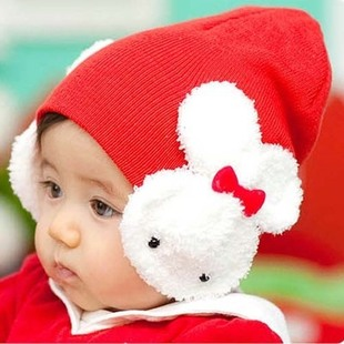 Autumn and winter wool cap shape cute panda baby hats for men and women baby infant child