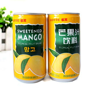 T South Korea imported food Lotte mango juice drinks summer drinks 15 bottles of 180ml beat hair FCL