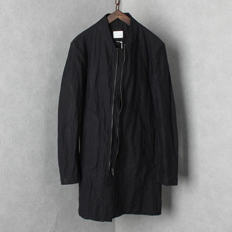 设计师品牌男装 春款外套 男士中长款风衣 立领中长款休闲外套