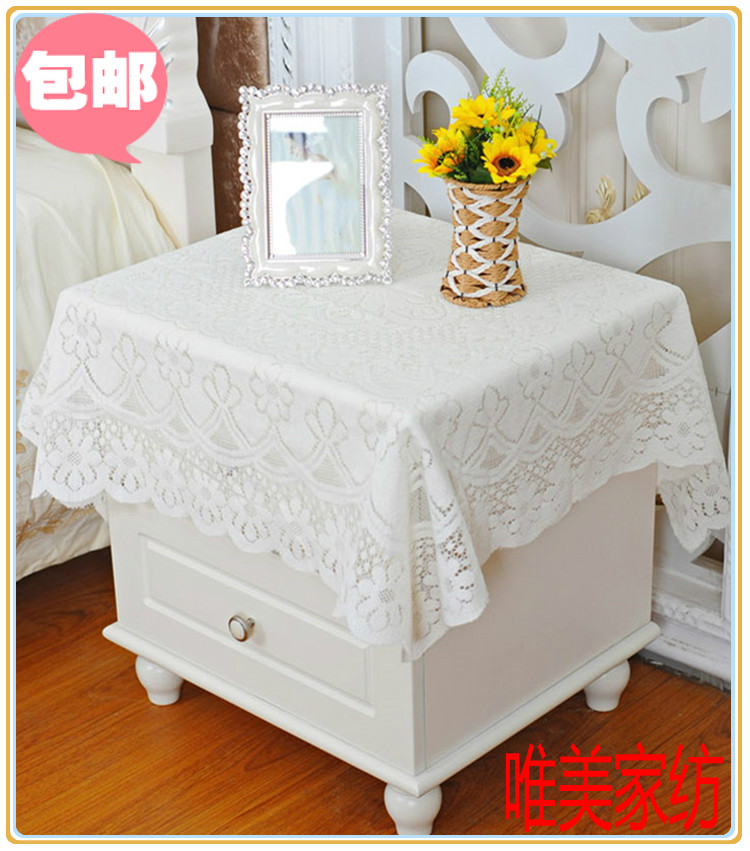 Special price lace refrigerator washing machine cover bedside table cloth bedside table Dust Cover Tablecloth computer cover tea table towel cloth