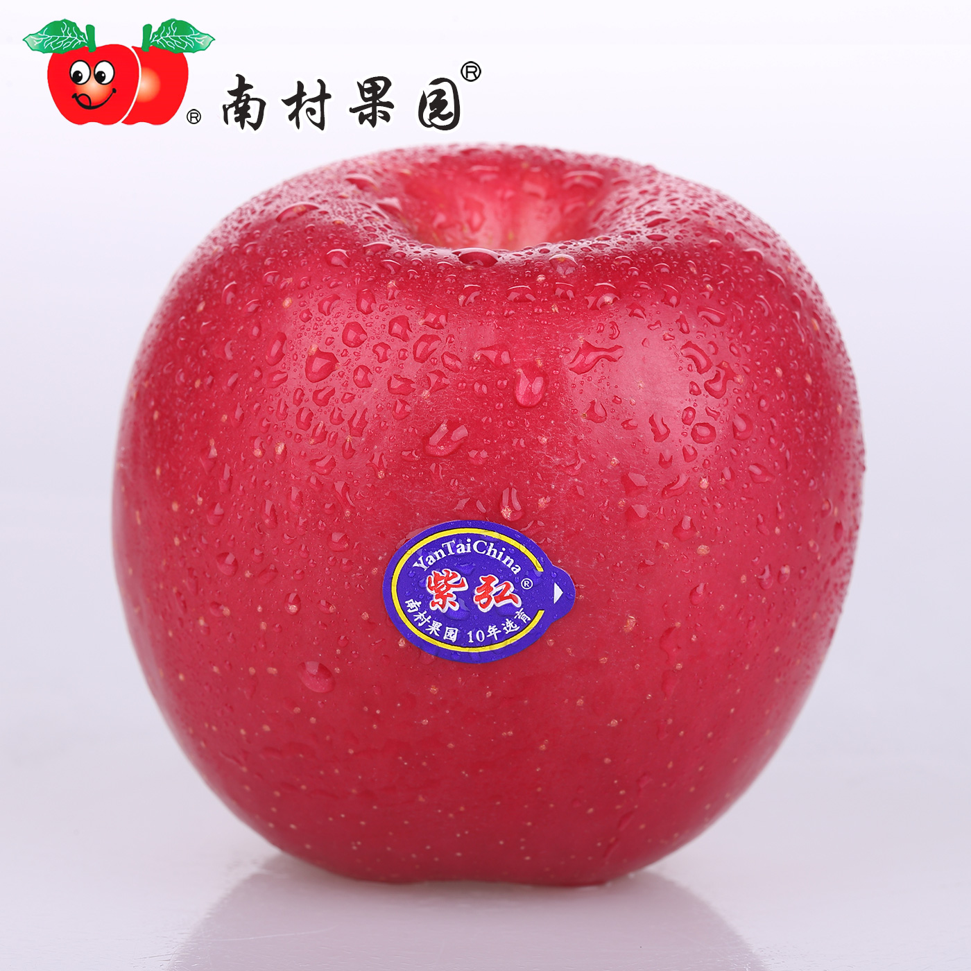 Yantai Red Fuji fine apple, Nancun orchard, Zihong, 8 Jin, 12 grains, Qixia special fresh fruit apple