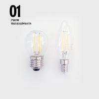 Эдди сырье ретро LED e27 большой винт e14 маленький винт лампочка 360 степень волос свет 4 плитка