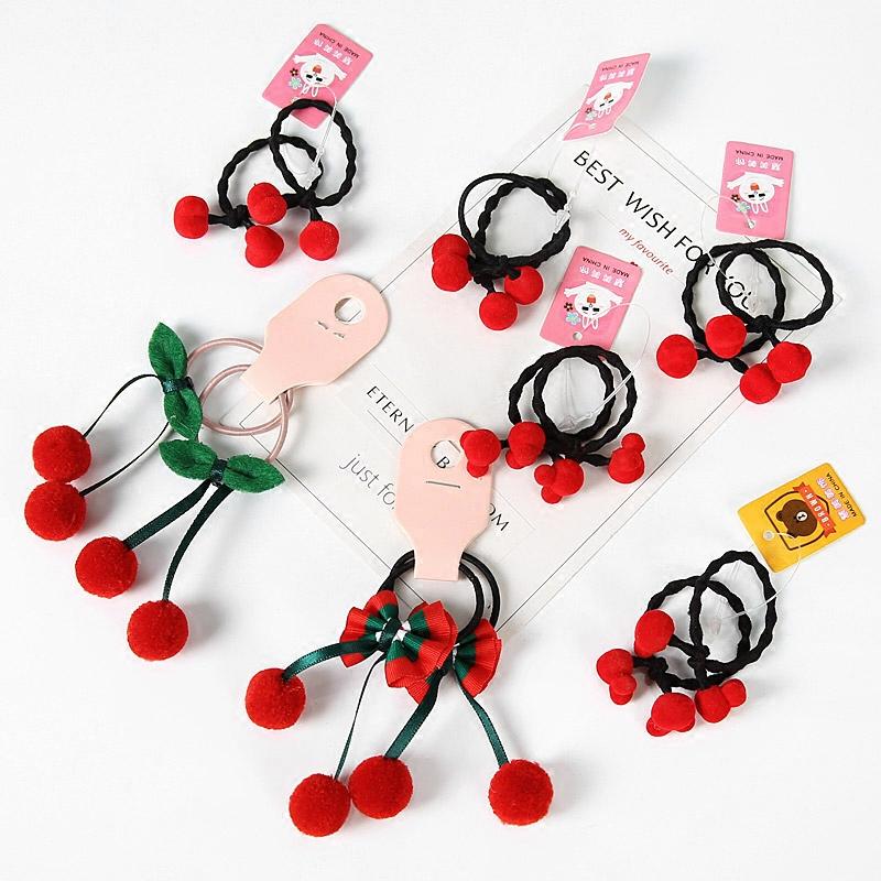 韩国儿童发绳宝宝橡皮筋女童流苏蝴蝶结可爱发圈扎头发饰品头饰