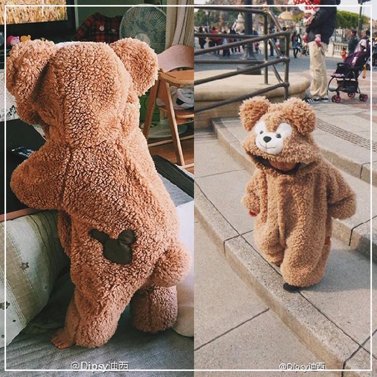 宝宝爬服仿生动物造型婴儿衣服秋冬男童女童熊宝宝连体衣秋装哈衣