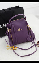 The new 2015 vivi Vivian Saturn purple shoulders one shoulder bag dual-purpose female bag travel waterproof backpack