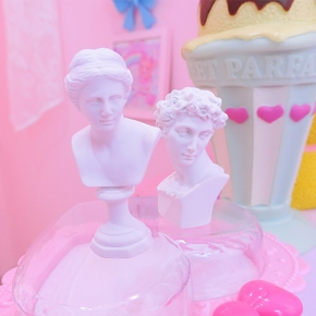 ins北欧风迷你维纳斯树脂雕像拍照背景道具少女心房间摆件