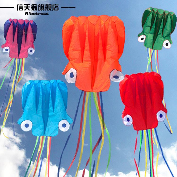 濰坊信天翁風箏 立體軟體 4米、大5.5米型章魚兒線童輪風箏