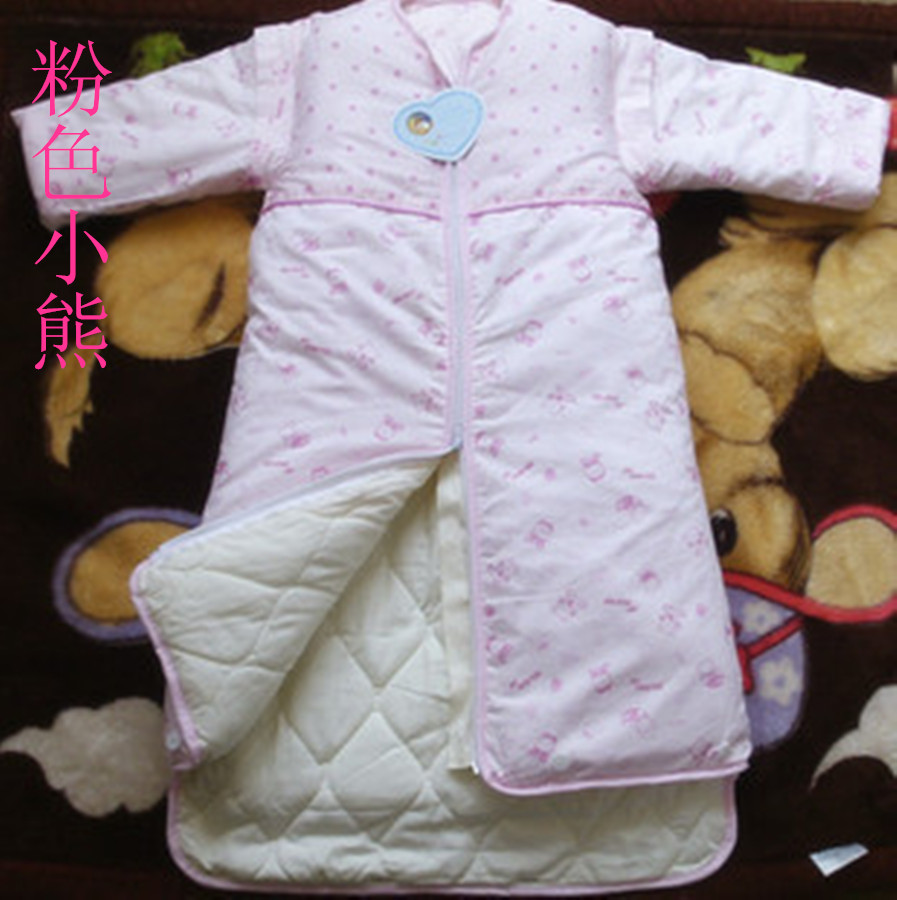Four seasons universal baby infant middle and large childrens sleeping bag anti kicking artifact in autumn and winter thickened and lengthened double gallbladder detachable