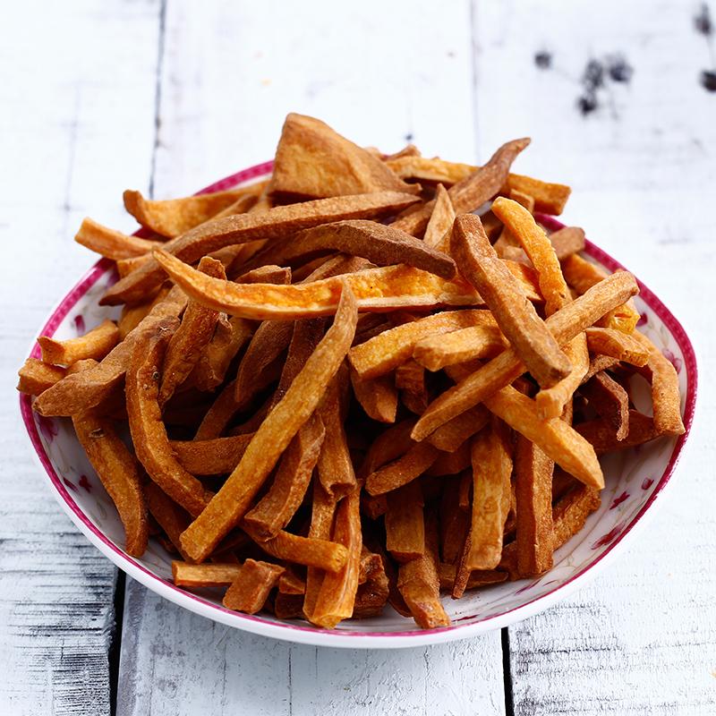 朱小二香脆薯条250g*2地瓜干农家自制山芋条片天然无糖精纯红薯干