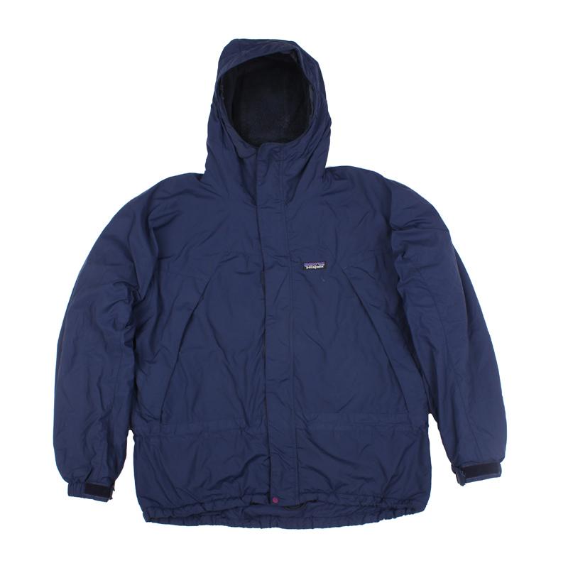 90年代古着PATAGONIA抓绒冲锋衣 绝版PARKA男士户外外套