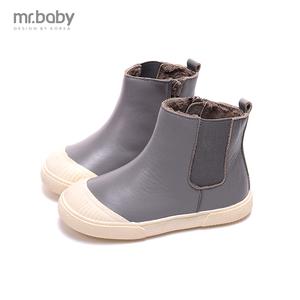亏本清仓 mr.baby儿童棉鞋  男女童鞋 棉鞋 头层牛皮 高端皮靴子