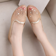 2015 shoe boom spring sweet shoes asakuchi summer new women pointed flat bottom with Korean rhinestones casual women shoes
