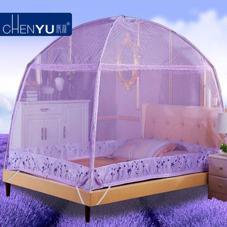 蚊帳蒙古包有底三開門1.8m床拉鏈1.5米單人1.2米學生宿舍雙人家用