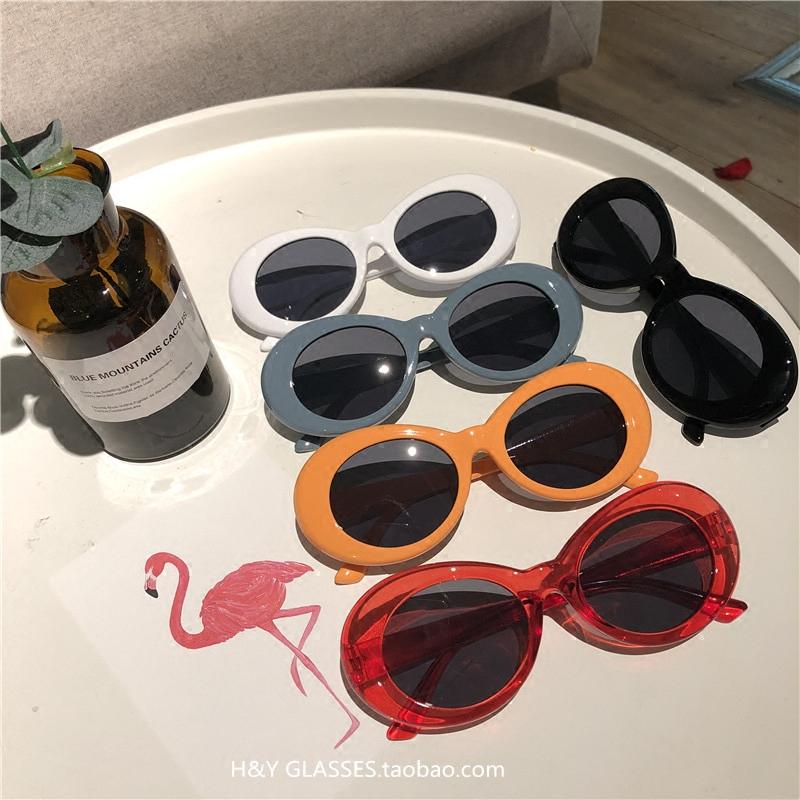椭圆框墨镜潮bridge嘻哈GD布瑞吉ins同款网红封帆猫眼太阳镜男女热销225件正品保证