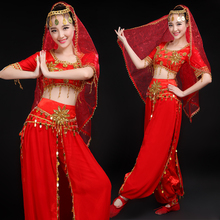 New belly dance suit clothing Indian dance costumes national adult Sari clothing Xinjiang dance performance clothing women
