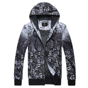 Kang stepped fall 2015 warm windbreaker jacket coat men's movement light and simple casual sportswear