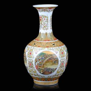 景德镇陶瓷器 清明上河图古典花瓶 现代时尚家居装饰品工艺品摆件