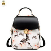 Find fashion-fall 2015 Korean leisure shoulder bags Butterfly flower girl backpack bag College wind