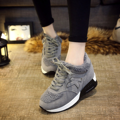 Hero Yang new shoes winter and cashmere increased fall and winter shoes women's shoes in the Korean version of sneaker heels