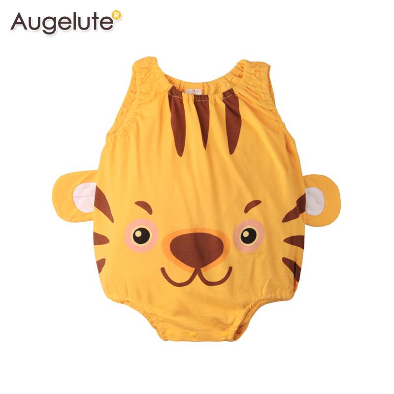 Augelute夏款宝宝连体衣无袖三角包屁衣动物造型背心爬衣41271