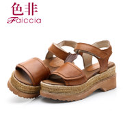 Non 2015 summer styles counter genuine leather Velcro heavy her sandal WIB322604CU