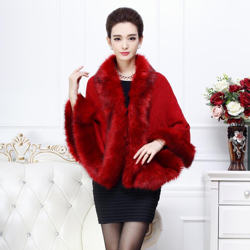 Новые дамы шаль шерсти пальто на осень/зима без рукавов мыса пальто плащ Европы плюс размер кардиган шаль