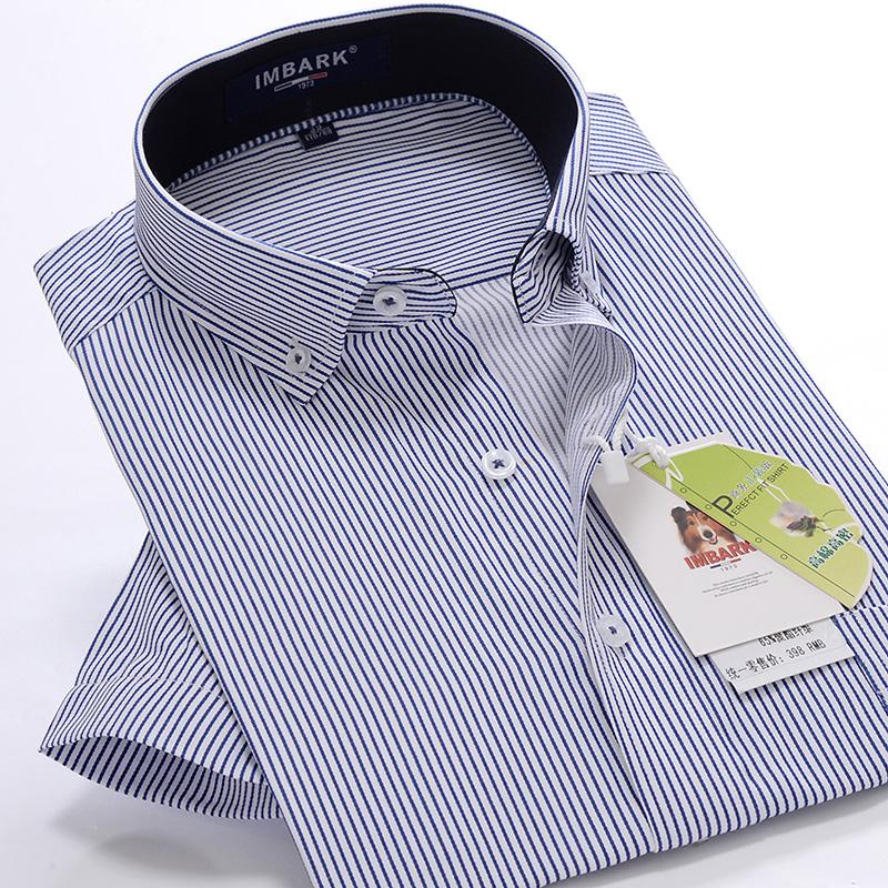 男士 胖子商務條紋襯衣