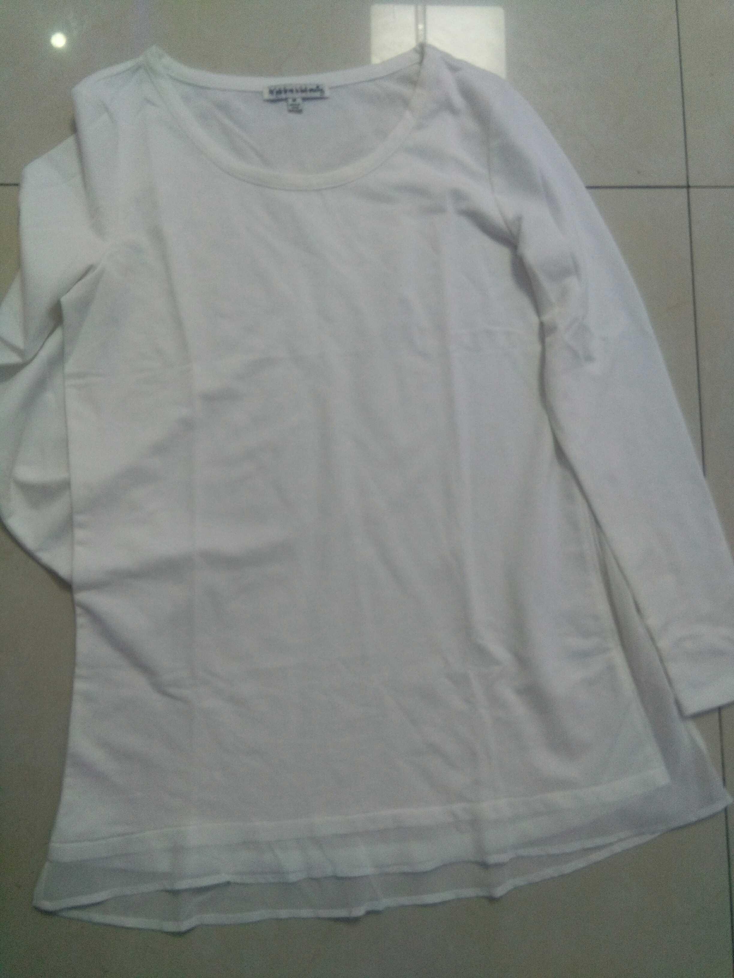 外贸原单秋冬装新款纯棉圆领长袖打底衫大码纯色t恤女装宽松