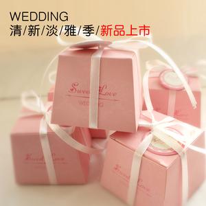 新品结婚婚庆用品 韩式婚礼喜糖盒子 创意纸盒欧式大小个性礼品...