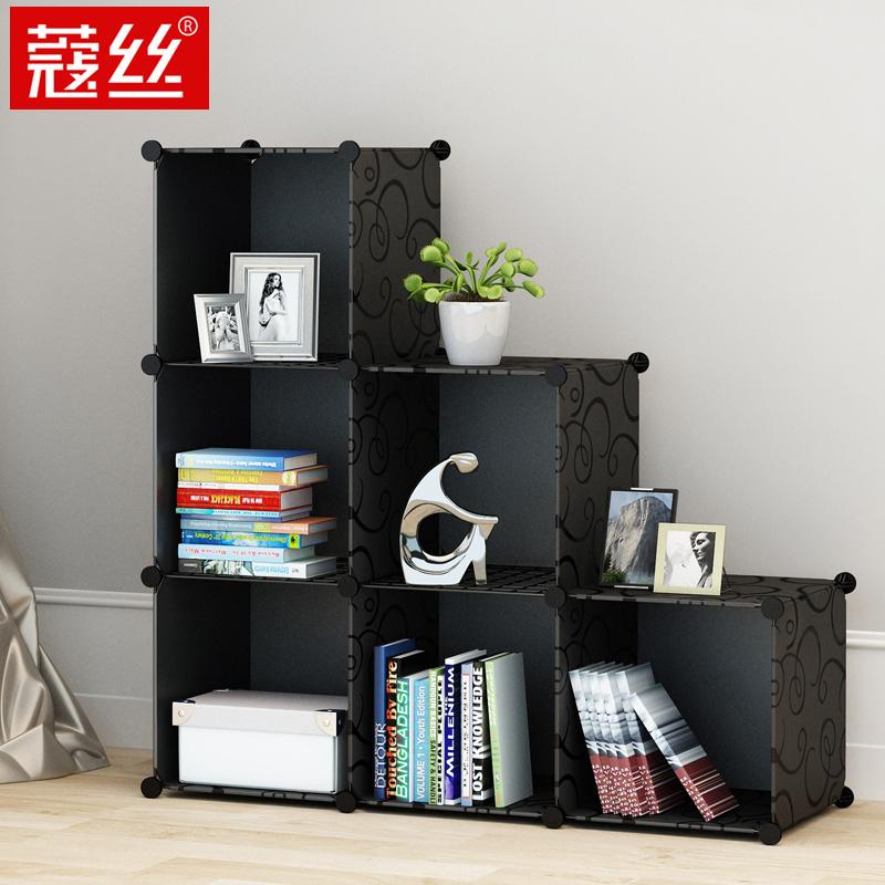 書架簡易置物架桌上麵簡約 折疊收納學生落地小書櫃經濟型