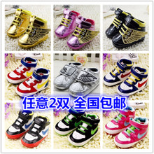 The spring and autumn period and the summer with Europe and the United States big bb baby shoes dark gold and silver to make wings baby 0-1-2 year old toddler shoes wet