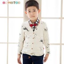 Children boys knitwear, 2015 new autumn leisure coat, children's wear cotton long sleeve cardigan elastic han edition fleece