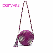 Zhuo Shini fall 2014 new handbags classic small round diamonds rivets tassel shoulder bag PZ143232