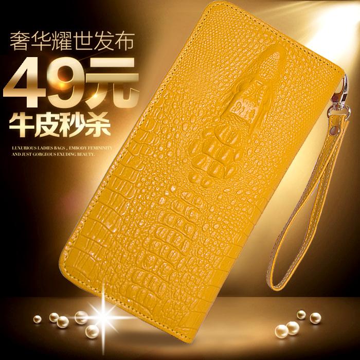 ING Мэй женщин бумажник кожаный zip вокруг бумажник новый 2015 первый слой кожаный бумажник мобильный кошелек