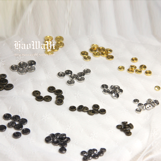 *Good baby clothes * BJD mini metal button for baby 3mm4mm5mm6mm7mm8mm gold silver gun copper